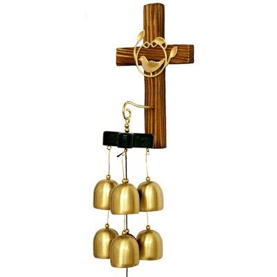 Христианские подарки высококлассные украшения для дома крестообразные украшения из чистой меди ручной работы крест колокольчики - Цвет: Светло-зеленый