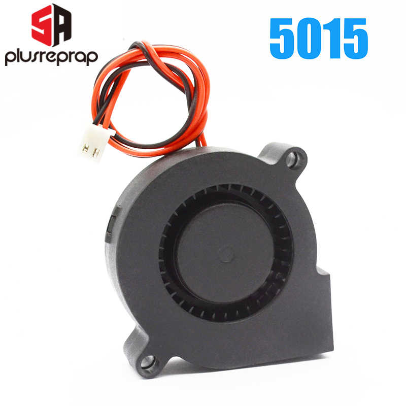 5015 12V 24V Cooling Turbo Kipas Brushless Extruder DC Cooler Blower 50X50X15 Mm Hitam kipas Plastik untuk RepRap 3D Printer