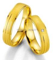 Anillos Желтая Позолота Анель Ору ручной работы Одежда высшего качества Титан обручальные кольца для женщин