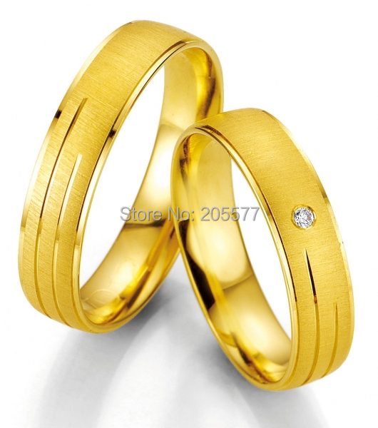 anillos yellow gold plating anel ouro Handmade Top Quality Titanium engagement wedding rings for women все цены
