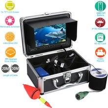 20/30м CMOS сенсор Цифровая камера 1000tvl HD рекордер Водонепроницаемый 165 градусов осматривая Рыбалка LCD камеры (видеорегистратор) +коробка для хранения алюминиевой