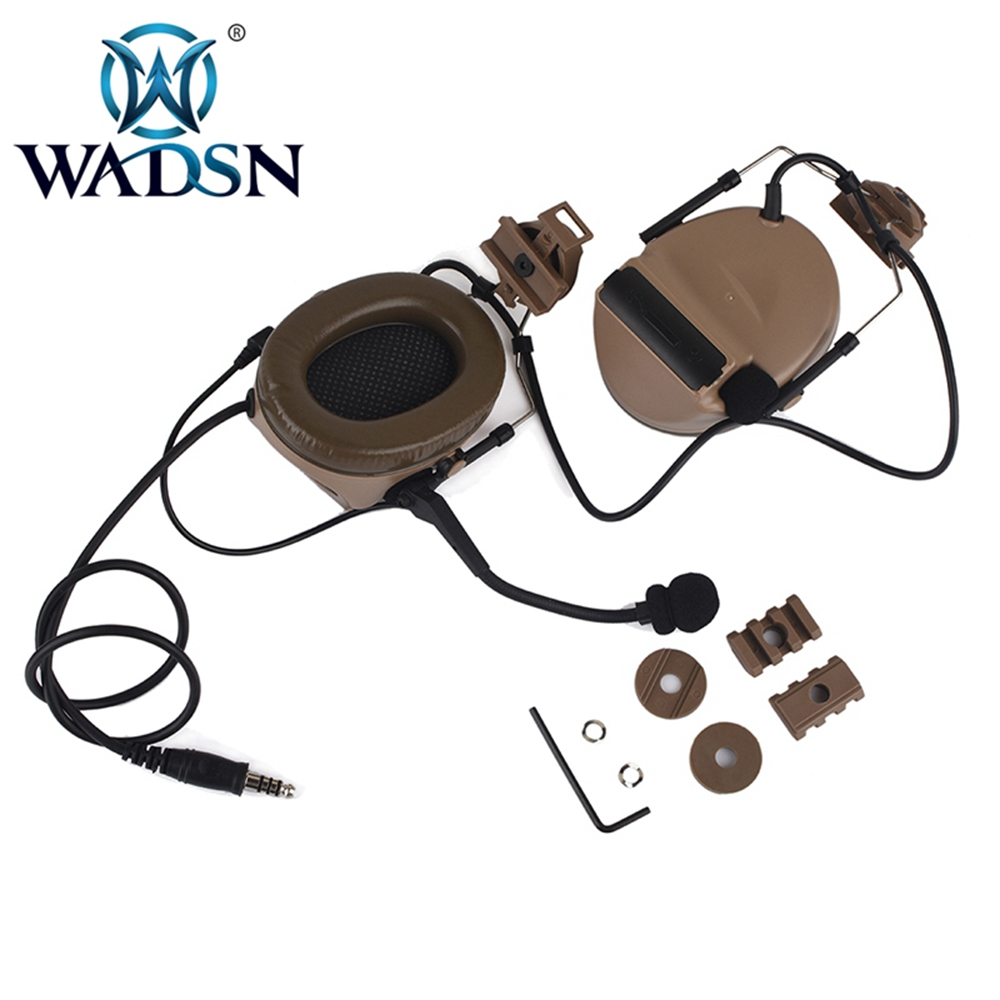 Image 3 - WADSN Comtac II Headset With Peltor Helmet Rail Adapter Set For FAST Helmets Military Airsoft Tactical C2 Headphone WZ031-in Tactical Headsets & Accessories from Sports & Entertainment