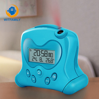 USB Temperature Calendars Lazy Student Bedside Silence Electronic Clock Cute Child Gift Creative Projection Alarm Clock