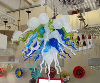 Modern Small Cheap Chandelier Dining Room Art Decor LED Light Source Dale Chihuly Hand Blown Glass Crystal Chandelier