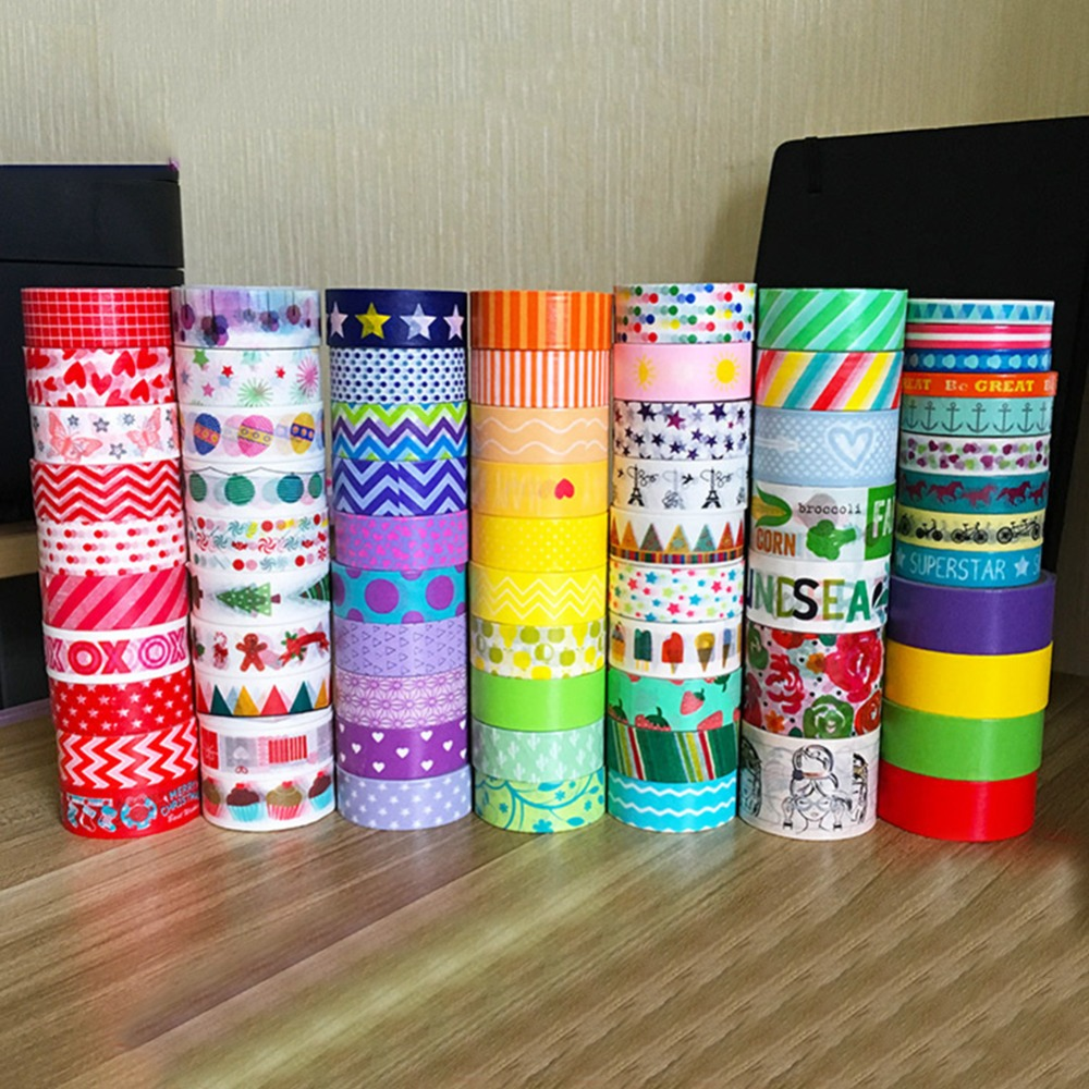 Washi Tape Diy Aliexpress.com : Buy 10pcs/set Foil Washi Tape Colored ...
