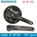 SHIMANO ACERA FC-MT100 MTB cigüeñal piñón 22/32/40T montaje de manivela de bicicleta accesorios gratis de entrega