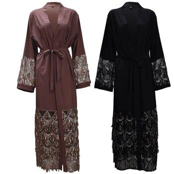 Abayas For Women Bangladesh Mesh Sequined Muslim Hijab Dress Jilbab Kaftan Abaya Turkey Robe Dubai Qatar UAE Islamic Clothing цена 2017