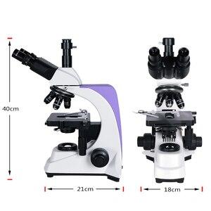 Image 2 - 1000x 2500X Professional Biological Lab HD Microscope Trinocular Binocular digital camera lcd eyepiece electronic USB HDMI VGA