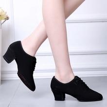 Teachers Shoe Sports Latin Dance Shoes Woman Adult Modern Ballroom Women Oxford With T1B Two Bottom Fitness Sneakers