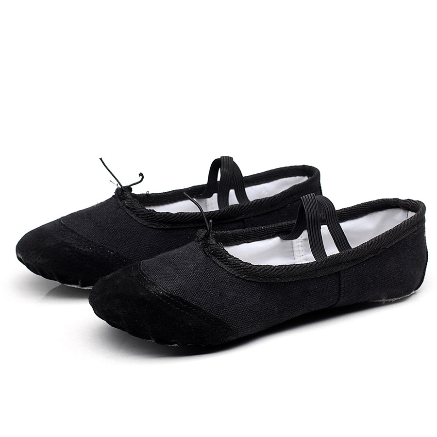 Professional ballet flats Soft Balleria Dance Shoes For Women Split Cow Leather Outsoles Latin Yoga Dance sport Shoes Girls Toe in Dance shoes from Sports Entertainment