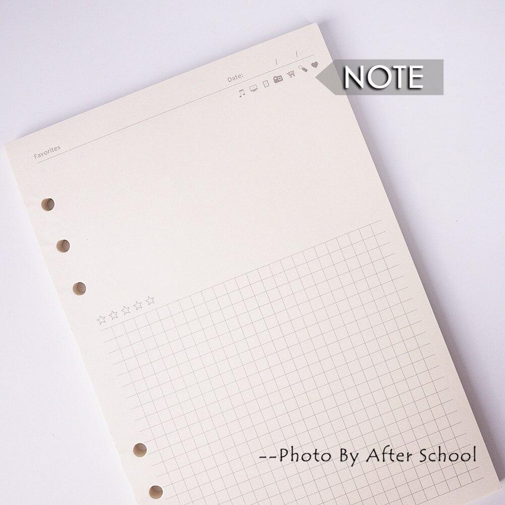 Cadernos a5 a6 a7 criativo 6 Utilização : Filler Book