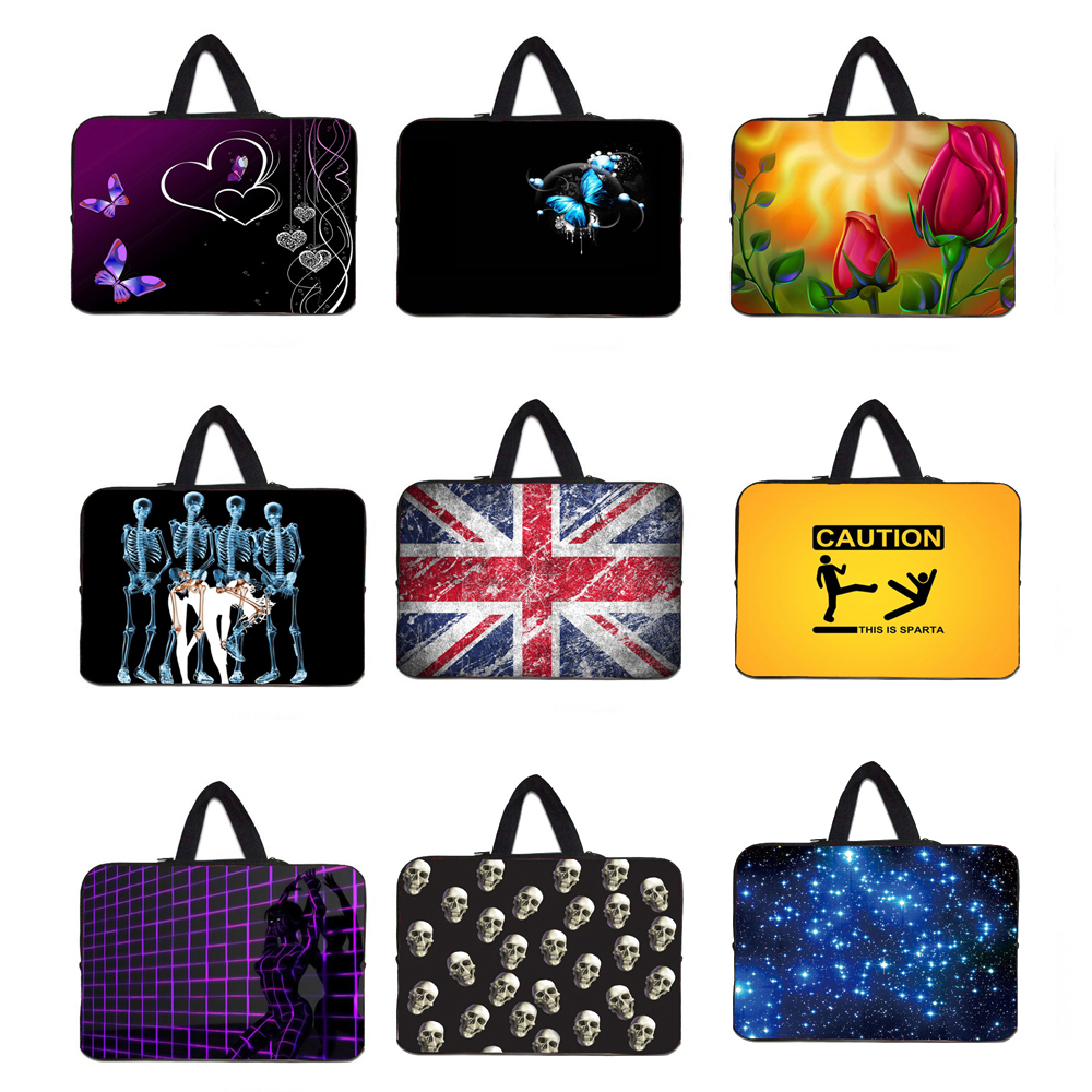 Mini Tablet 7 10 12 13 15 Neoprene Bag Carry Handle Cases Cover Sleeve Pouch Soft Bolsos Computer Laptop Accessories Protective