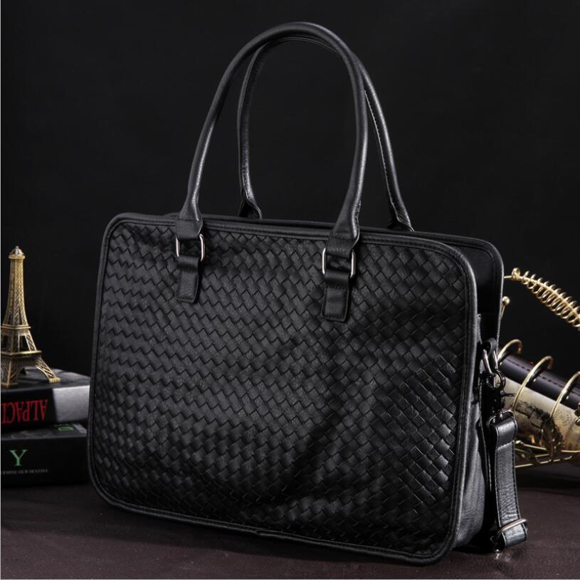 Luxury HandbagsDesigner Fashion Weaving Casual Men's Bag Messenger Bag Tote Casual Computer Laptop Bag