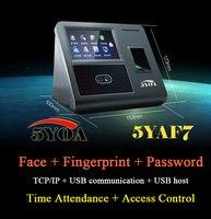 Лицо распознавания отпечатков пальцев IP TCP доступа посещаемости Управление устройства биометрических времени Регистраторы сотрудника циф