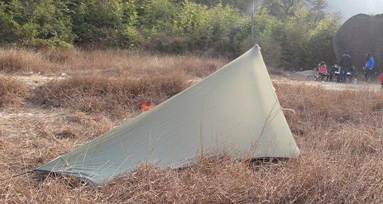 Livraison gratuite Black Hawk édition extrême! ultra léger 680 grammes 1 2 double croisement Keystone montagne silicone nylon gaze tente - 4
