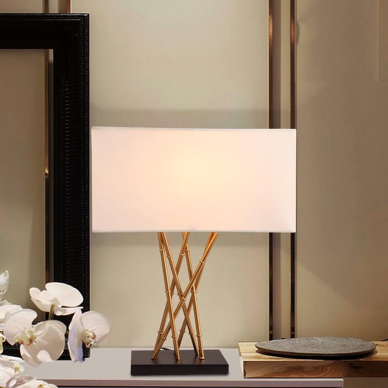 Modern Bamboo Metal Design Body Table Lamp For Bedroom Abajur Lampe De Chevet De Chambre Lampara 5 Frais Lampe De Chevet Metal Design Kgit4
