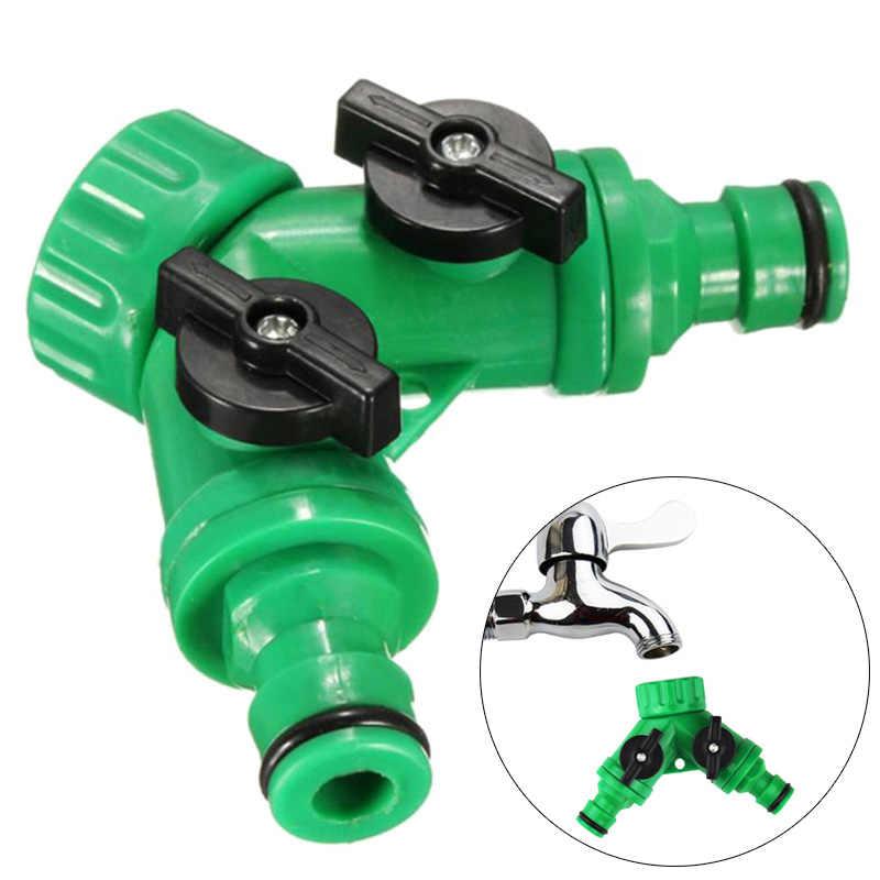 Для полива и орошения 1/2/4 шт. 2 Way садовый шланг Соединительные Y Форма сад крана приспособления для резки с автоматическим отключением соединитель клапана адаптер