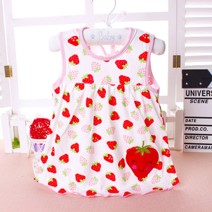 2018 Summer Baby Dress New Girls Fashion Infantile Dresses Cotton Children's Clothes Flower Style Kids Clothing Princess Dress(China)