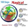 2016 Новый Магия Головоломка Мяч Обучающие Магия Интеллект Бал Игра-Головоломка Магнитные Шарики Для Детей Рождественский Подарок 100 Шагов