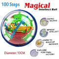2016 New Magic Puzzle Ball Educational Magic Intellect Ball Puzzle Game Magnetic Balls For Kids Christmas Gift 100 Steps