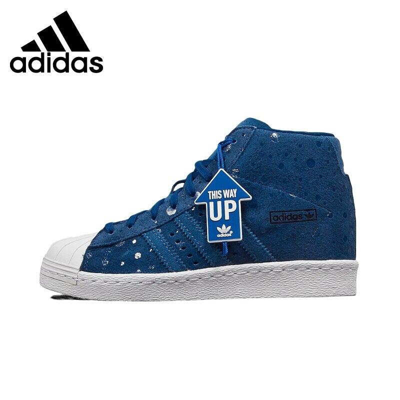 Prix pour Original Nouvelle Arrivée Adidas Originals Superstar Femmes de Haute Top Planche À Roulettes Chaussures Sneakers