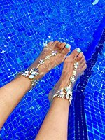 Holylove 3 Colors 1 Pair Foot Jewelry For Beach Barefoot Sandals Wedding Vacation With Gift Box