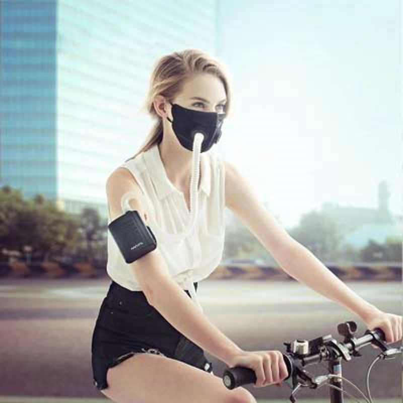 Smart Portable Électrique Masque Électronique masques anti-poussière En Plein Air Respirateur Pollution Filte purificateur d'air Anti Brouillard Antipoussière Pm2.5