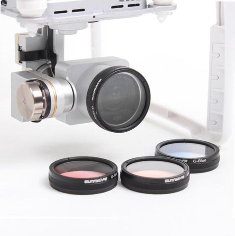 Upgrade Luminous Filter Gradient lens Gray/ Red /Orange/Blue for 4X6X8X Starlight mirror DJI Phantom 4 and Phantom 3 Accessories