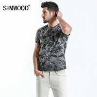 SIMWOOD 2018 Summer Fashion Printed T Shirts Men 100 Pure Cotton Tops Tees Slim Fit High