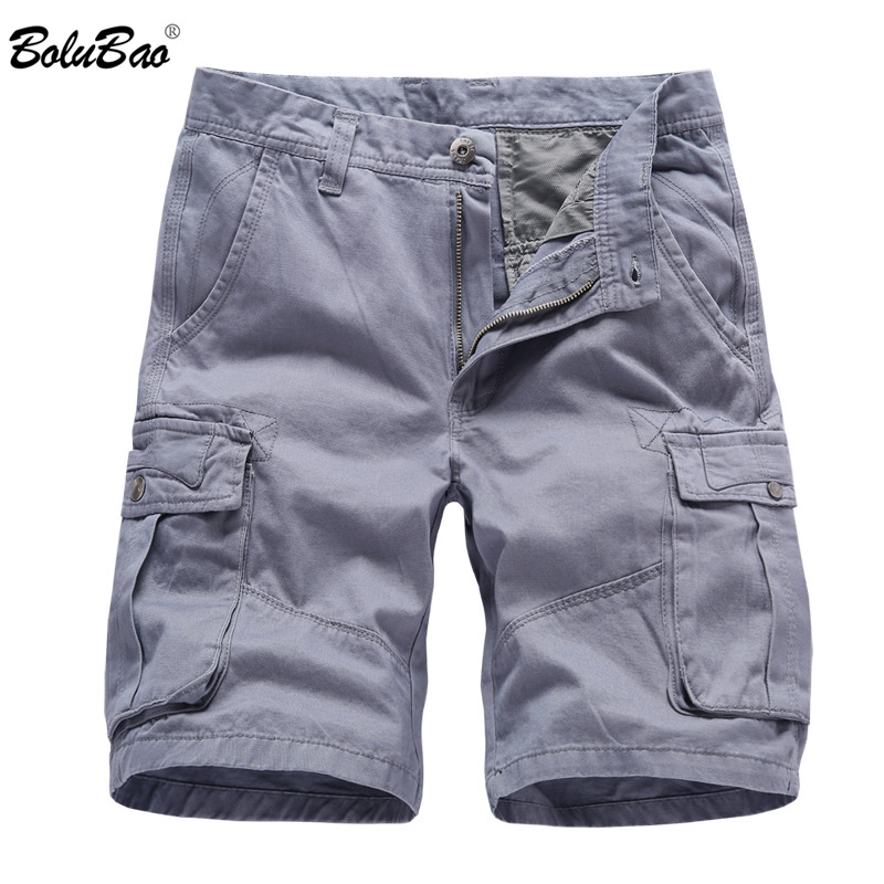 BOLUBAO Fashion Brand Men's Cargo Shorts New Summer Men Cotton Short Men Tooling Shorts High Quality Men Casual Short Pants