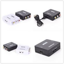 Jetting 1 PC HDMI untuk RCA AV/CVBS Adaptor HD 1080 P Mini HDMI2AV Video Converter dengan USB Power kabel(China)