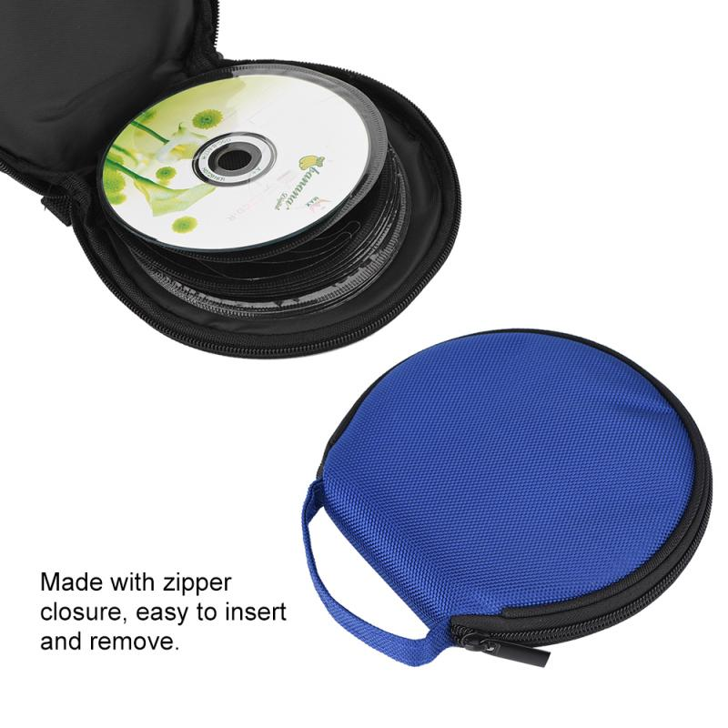 20 Disc Portable Game <font><b>CD</b></font> DVD DISC Slots Clear Cover Storage Case <font><b>Bag</b></font> <font><b>Organizer</b></font> Holder 4 Colours Non-woven image