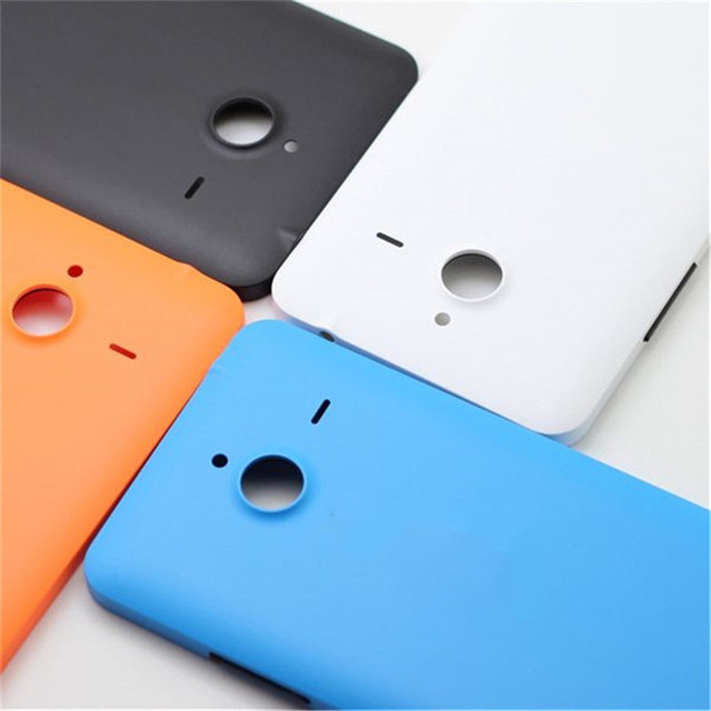 official photos 7bd79 d2e40 US $7.19  For Microsoft Nokia Lumia 640 XL Back Cover Battery Door Housing  Case With Buttons 5.7 inch White Orange Black Blue-in Mobile Phone Housings  ...
