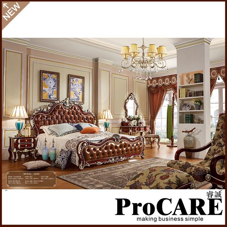 €2987.57 |Lit King de Style européen moderne avec des meubles de chambre de  conception de luxe de l\'usine de meubles de porcelaine-in Ensembles ...