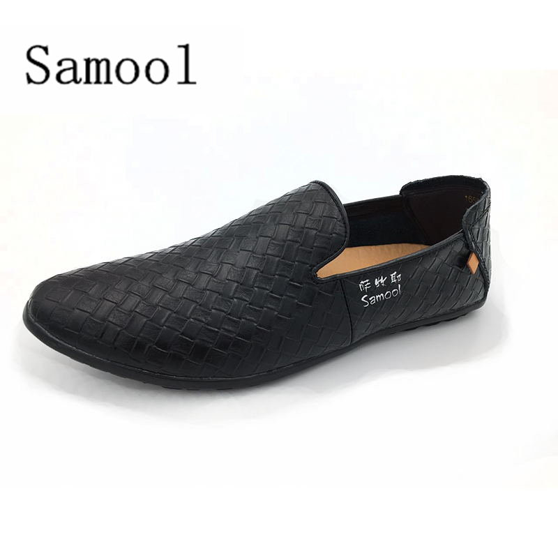 Men Genuine Leather Casual Shoes Men Footwear Non-slip Rubber Driving Outdoor Flats Handmade Elastic band Shoes Big Size 37-46 bole new handmade genuine leather men shoes designer slip on fashion men driving loafers men flats casual shoes large size 37 47
