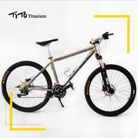 TiTo Titanium alloy MTB Bike 26 27.5 wheelset XT M780 suits 30 Speed Ultralight 12.17 KG titanium bicycle