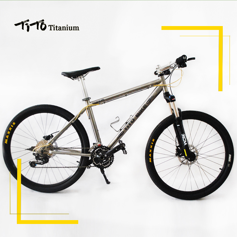 TiTo Titanium alloy MTB <font><b>Bike</b></font> 26 27.5 wheelset XT M780 suits 30 Speed Ultralight 12.17 KG titanium bicycle image
