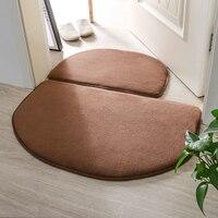 Anti slip Toilet Carpet Water Absorption Mats Bath Room Carpet Set Memory Foam Mat Bath Decor acessorios de banheiro 2 pcs/set