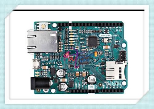 ФОТО Italian original Leonardo ETH Controller Board for Arduino without PoE version, 7~12V ATmega32u4 W5500 TCP/IP Embedded Ethernet