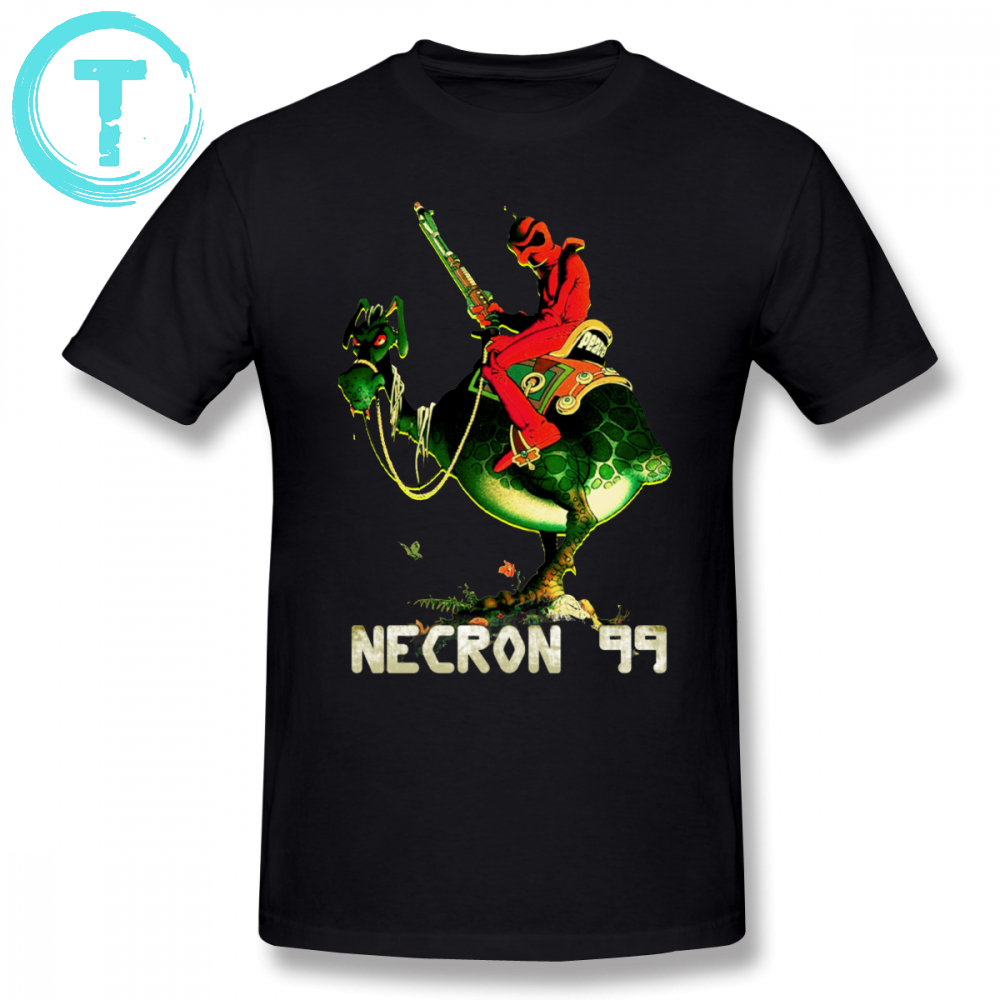 Post Apocalyptic T Shirt Necron 99 T-Shirt Short Sleeve Plus size Tee Shirt Male 100 Percent Cotton Cute Printed Fashion Tshirt broad paracord