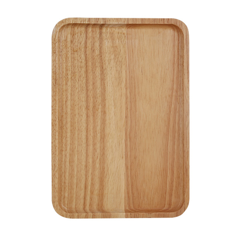 1Pc Wooden Tray Solid Wood Dish Plate Rectangular Shape Tea Cake Tray Large Fruit Bread Food Serving Tray Kitchen Wooden Utensils 5