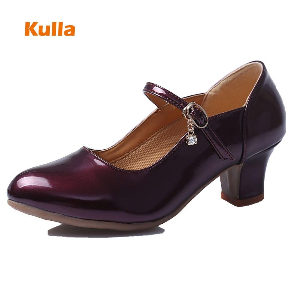 Для женщин/девушек/Современные Туфли для латинских танцев на высоком каблуке мягкая подошва с закрытым носком для взрослых Танго Сальса Ру...
