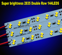 100pcs/lot Super Brightness Factory Wholesale Double row DC 12V 144leds SMD 2835 LED Hard Rigid LED Strip Bar Light for Cabinet