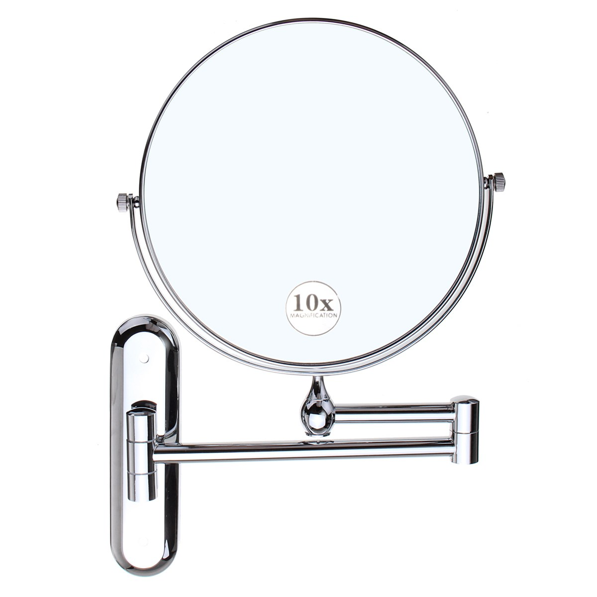 Cosmetic Double sided 10X Magnifying Mirrors Chrome Round 8\