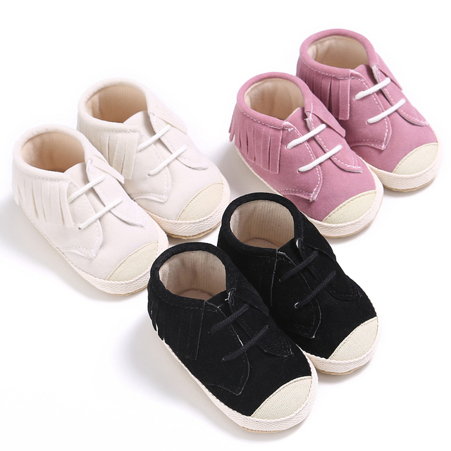 0325992b78b8 2017 Branded Solid Baby Boys Girls Shoes Fringe Baby Flock Sports Totem  Babies Casual Shoes Children Sneakers First Walkers