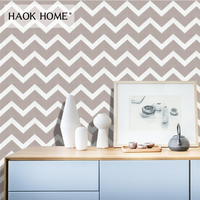 HaokHome Modern curve/wave Wallpaper wall Peel and Stick Grey Self Adhesive Contact Paper For living room Kitchen Decor
