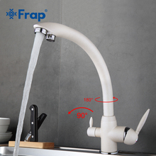 Frap New Arrival Kitchen Faucet Deck Mounted Mixer Tap 180 Degree Rotation with Water Purification Features Nickle F4399-8