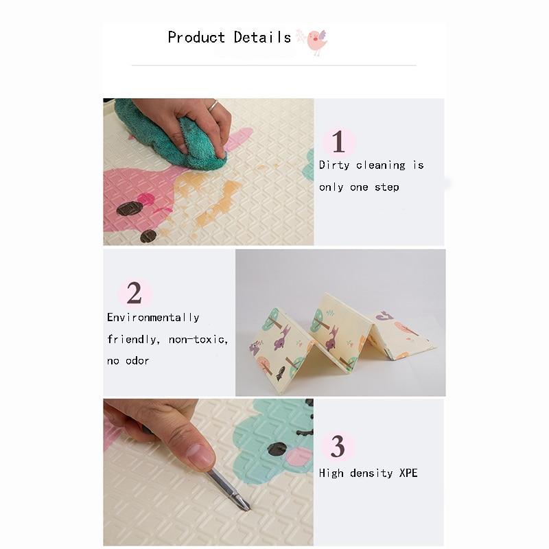Cinq modèles style carte bébé bébé tapis d'escalade épaississement enfants pliant jeu tapis de mousse XPE tapis rampant - 5