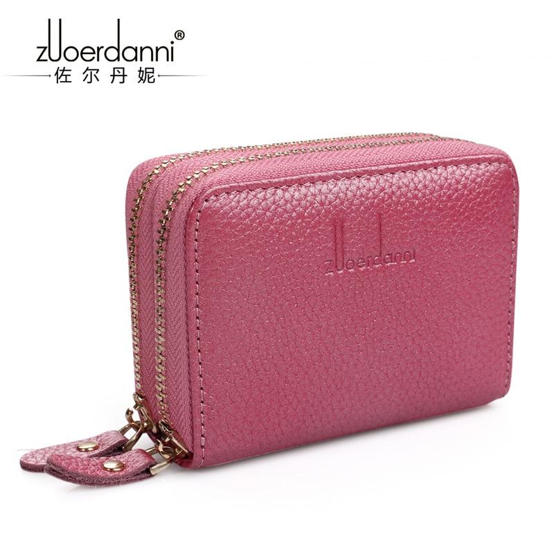 Купить с кэшбэком Multi - purpose travel permit leather double zipper card package female credit card sets organ card package female