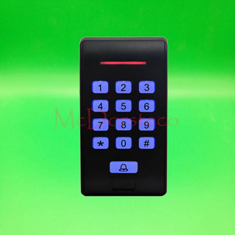 New Rfid Access Control 125Khz EM ID Keypad Single Door Access Control system with Wiegand 26 bit In/Output mini access control keypad em card wiegand 26 output input with rfid keyfobs 125khz for door lock security system